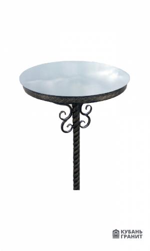 Стол металлический круглый