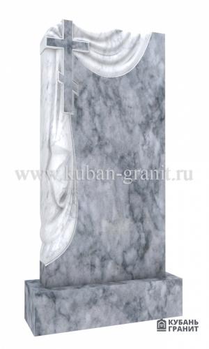 Мраморный памятник с крестом 2