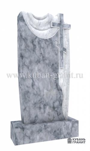 Мраморный памятник с крестом 3