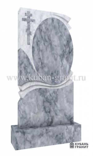 Мраморный памятник с крестом 5