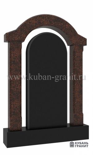 Гранитный памятник с аркой №37-дым