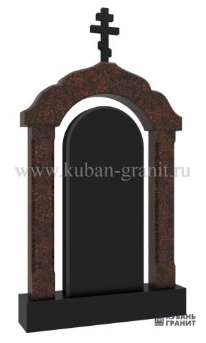Гранитный памятник с аркой №38-дым