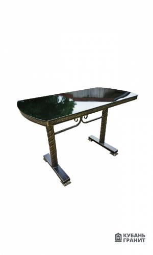Стол металлический полукруг 150х60
