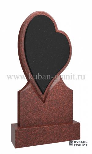 Гранитный памятник с сердцем № 40-лезник