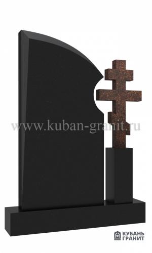 Гранитный памятник с крестом №41