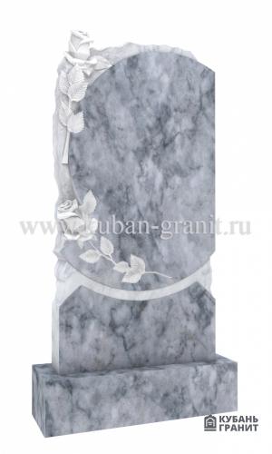 Мраморный памятник с розами