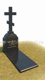 Гранитный памятник с крестом №12