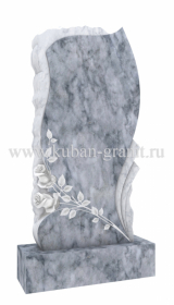 Мраморный памятник фигурный с розами