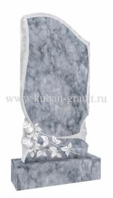 Мраморный памятник фигурный с розами 2